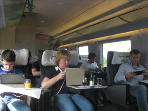 Connected on the train